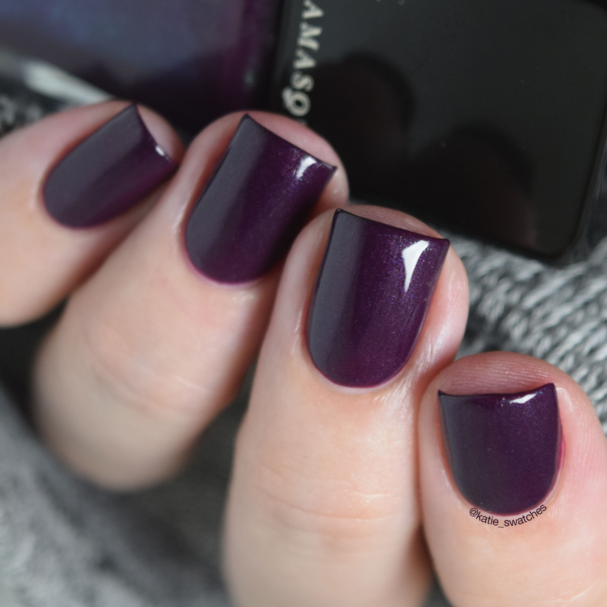 Illamasqua Gothiqua nail polish swatch - dark purple