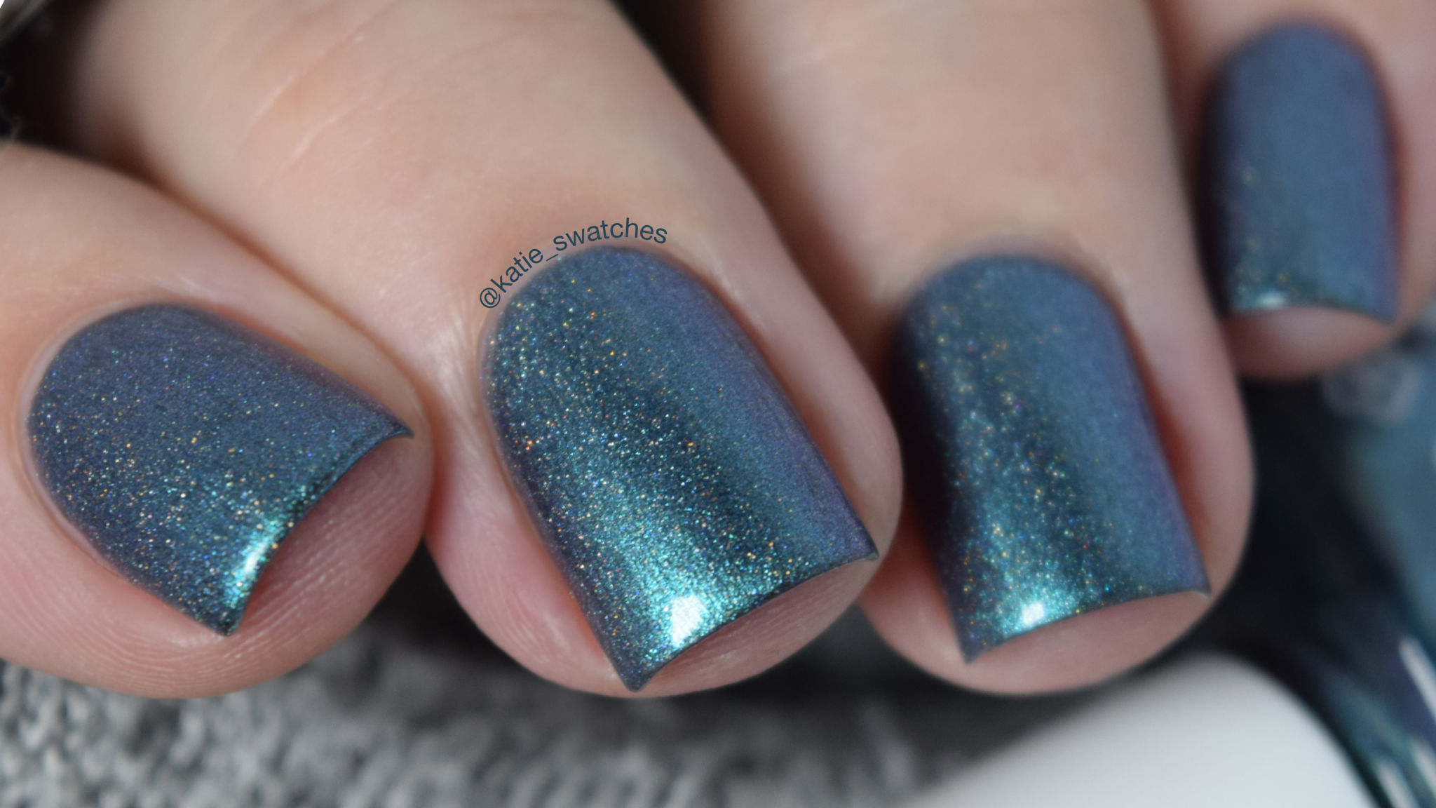 Takko Lacquer Kaleidoscope Eyes holographic nail polish swatch