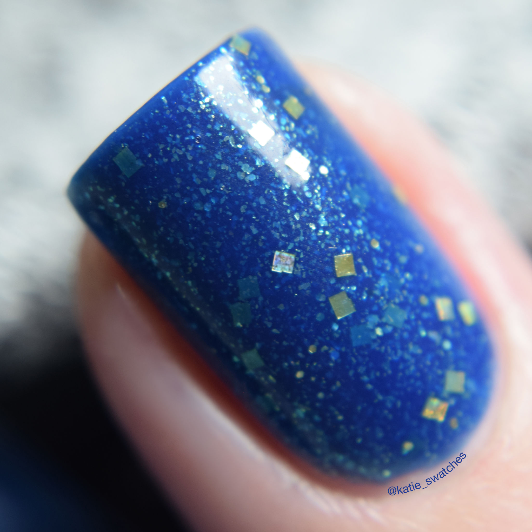 Cadillacquer Night Clouds indie nail polish swatch macro