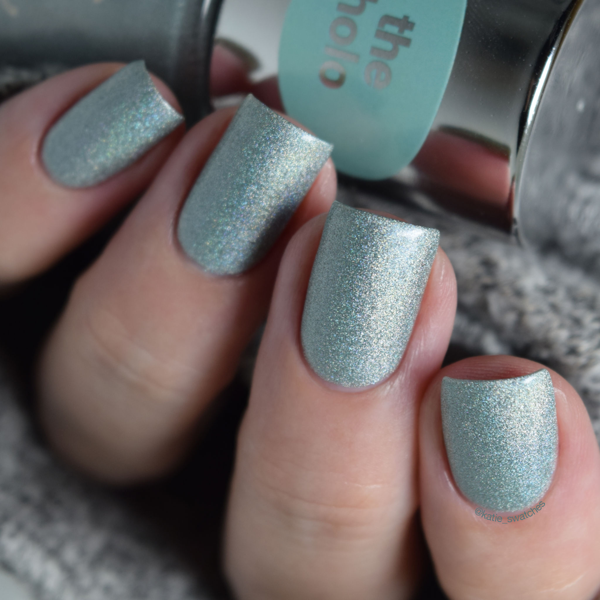 Essence Under the Sea holographic nail polish swatch - Aquatix Collection 2014