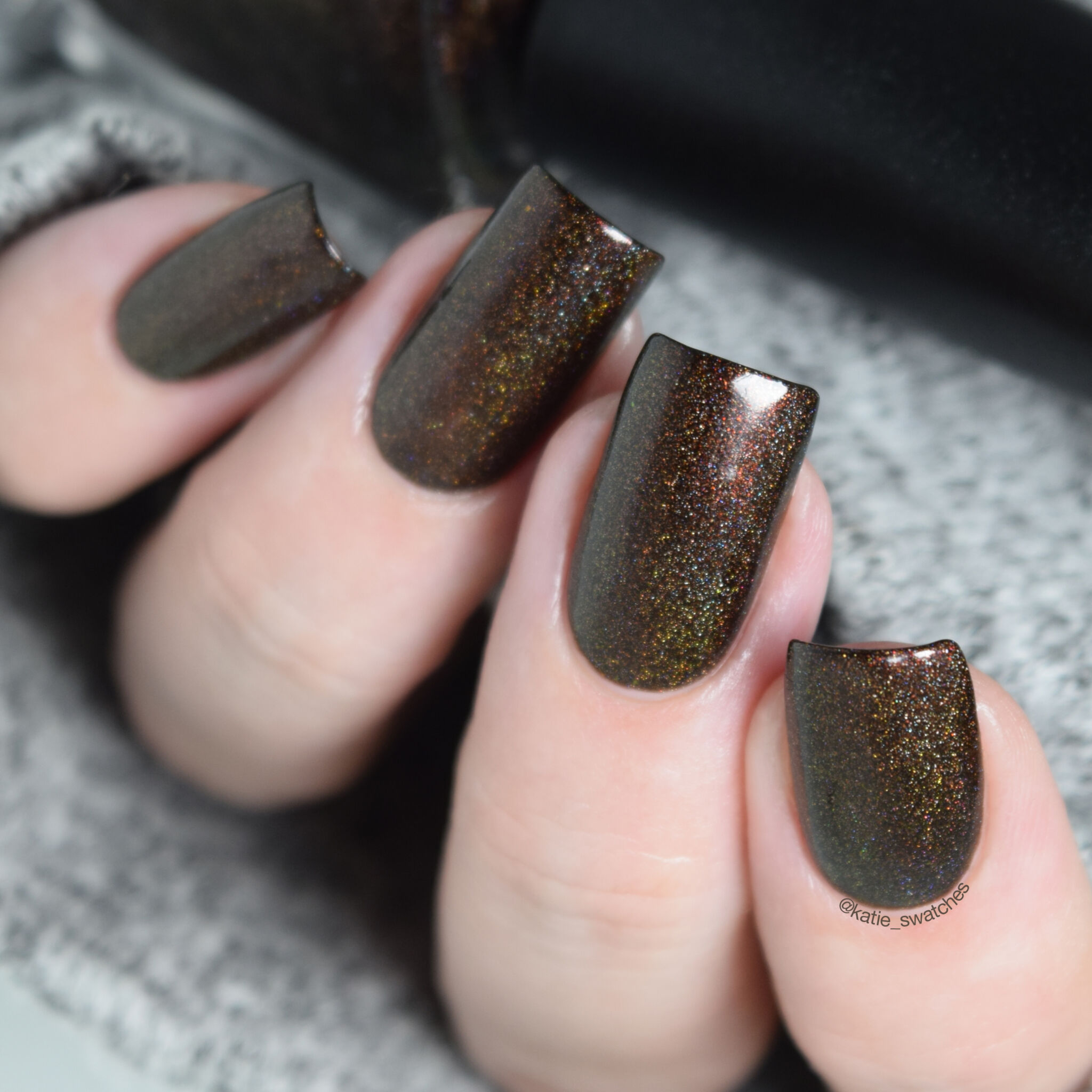 Colors by llarowe How About A Brownie Dogg? brown holographic nail polish - Polish Pickup February 2019