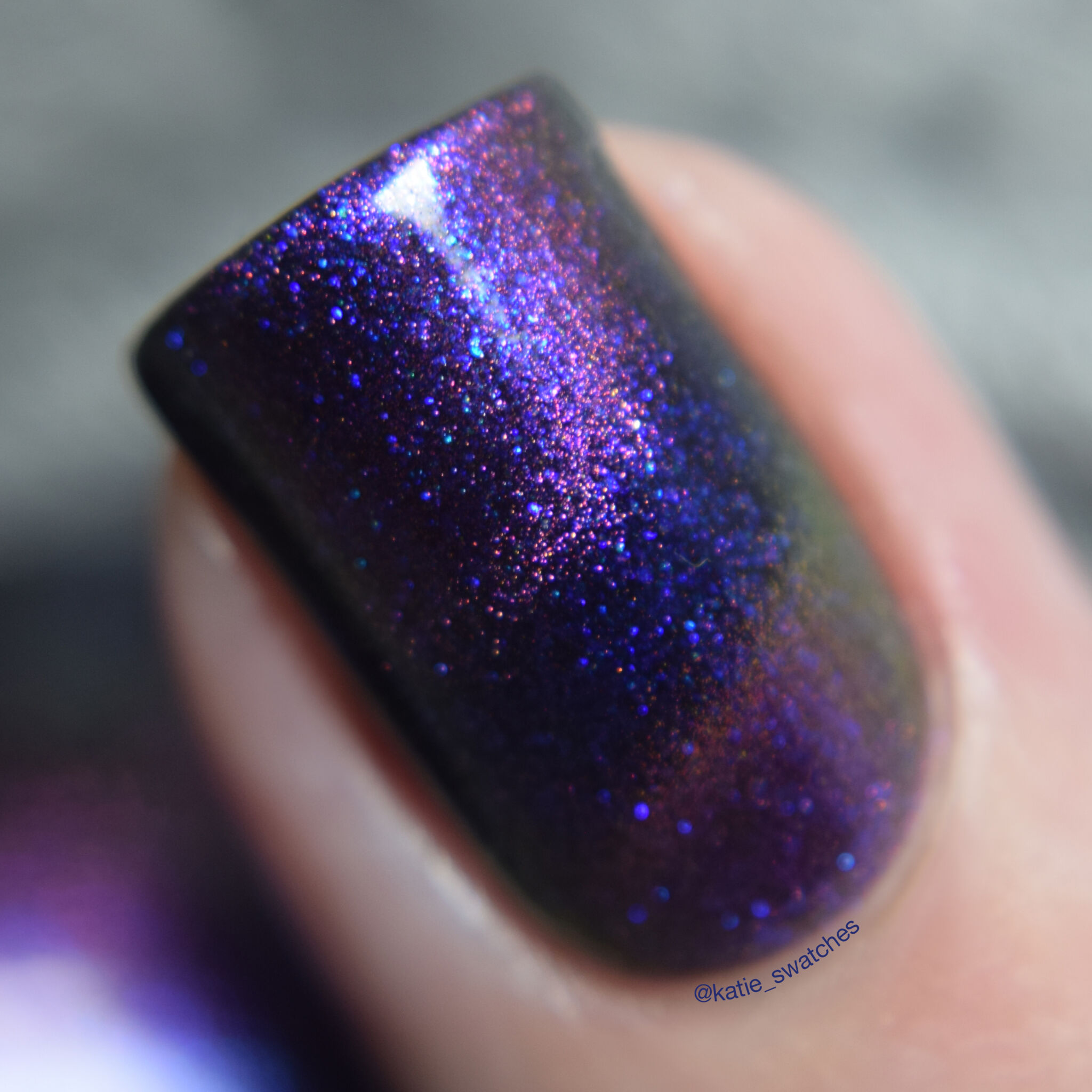 Polished for Days - Started With A Mouse magnetic nail polish swatch - Polish Pickup February 2019 Duos & Pairs