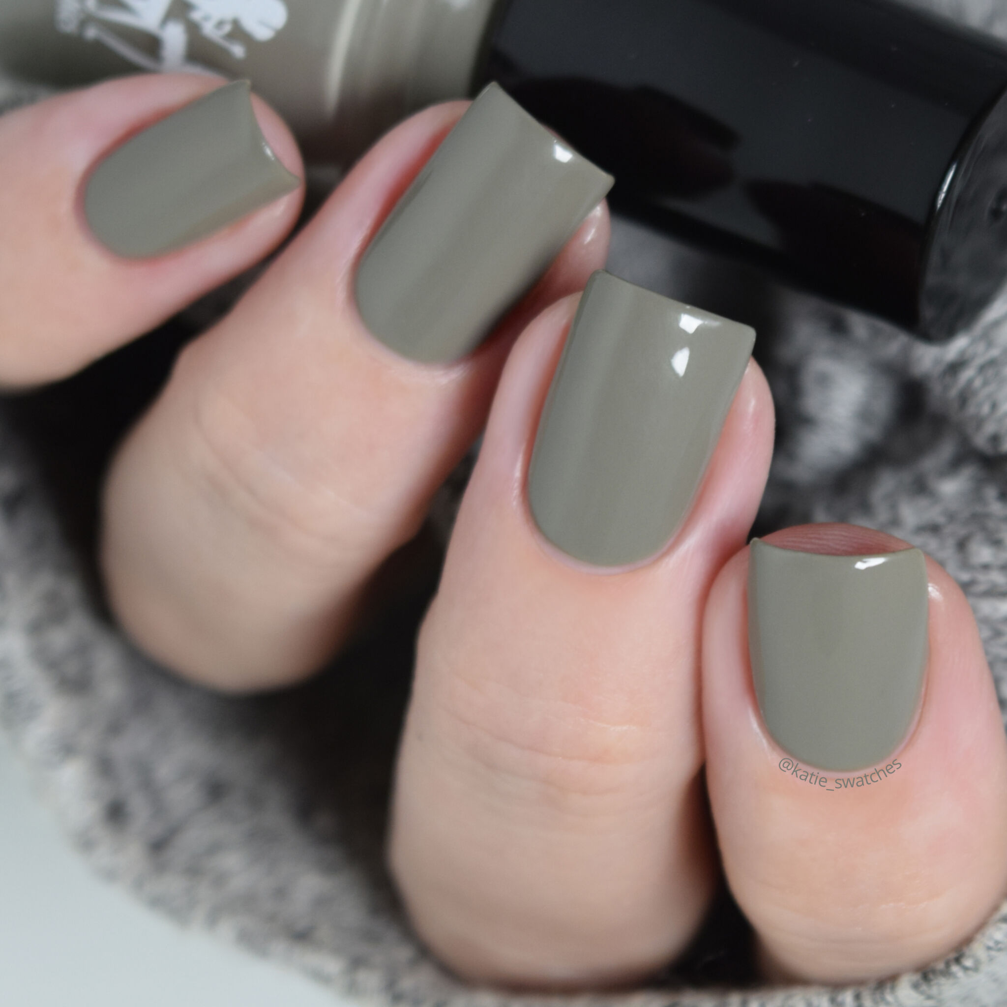 Girly Bits - Sage Against the Machine medium sage green crelly nail polish swatch