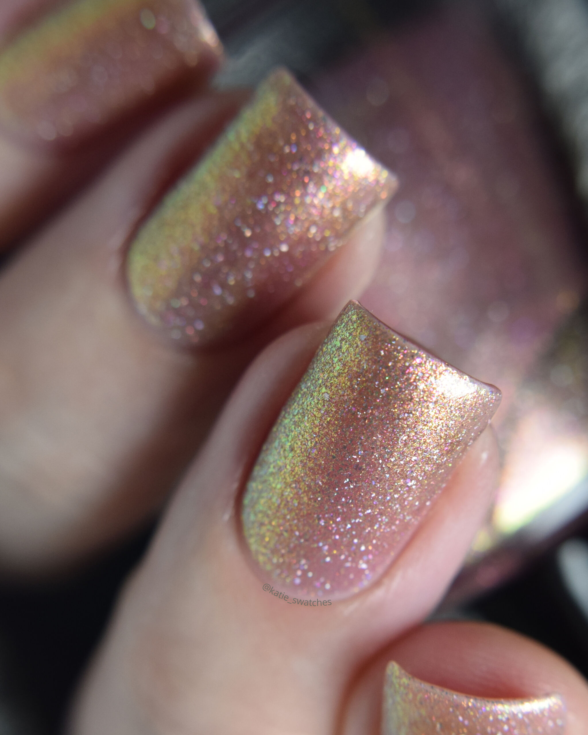 Girly Bits - Tangled shimmer nail polish swatch Polish Pickup PPU November 2019