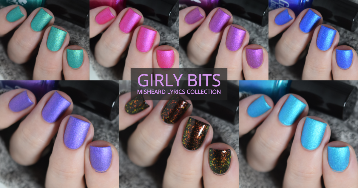 Girly Bits - Misheard Lyrics Collection matte nail polishes