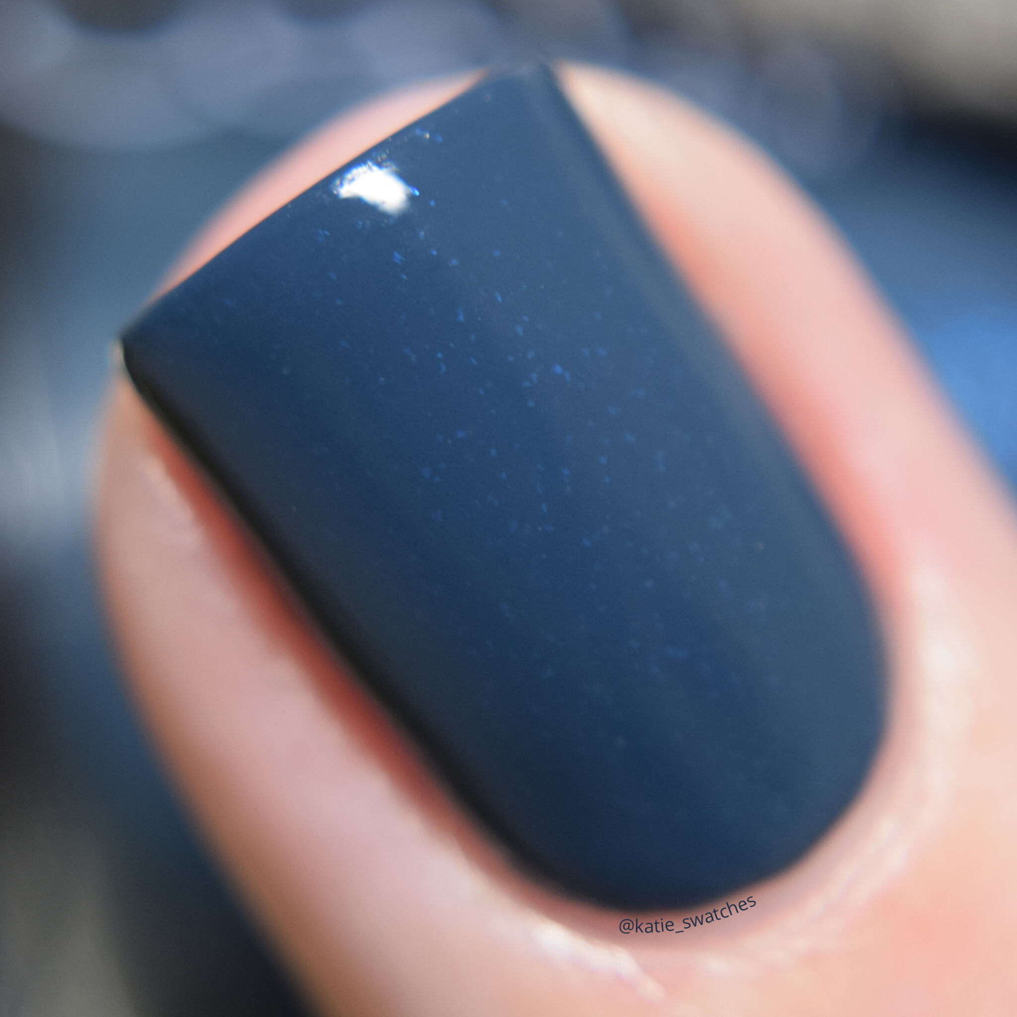 Catrice Cosmetics Hip Queens Wear Blue Jeans 350 navy blue creme nail polish swatch - drugstore nail polish