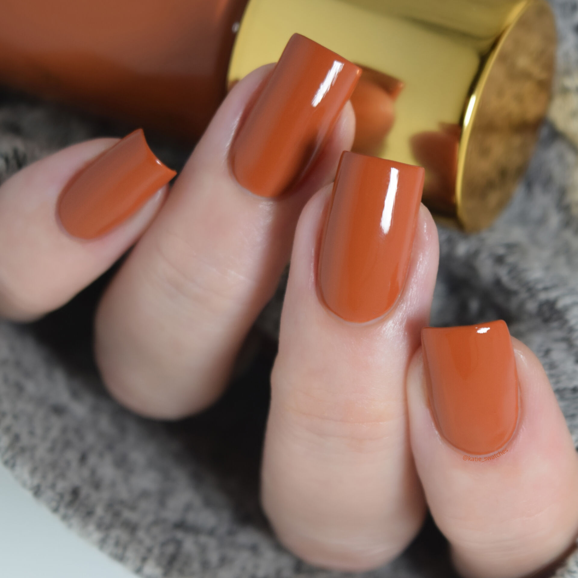 Tripe O Polish - Ile Ife burnt orange creme nail polish swatch