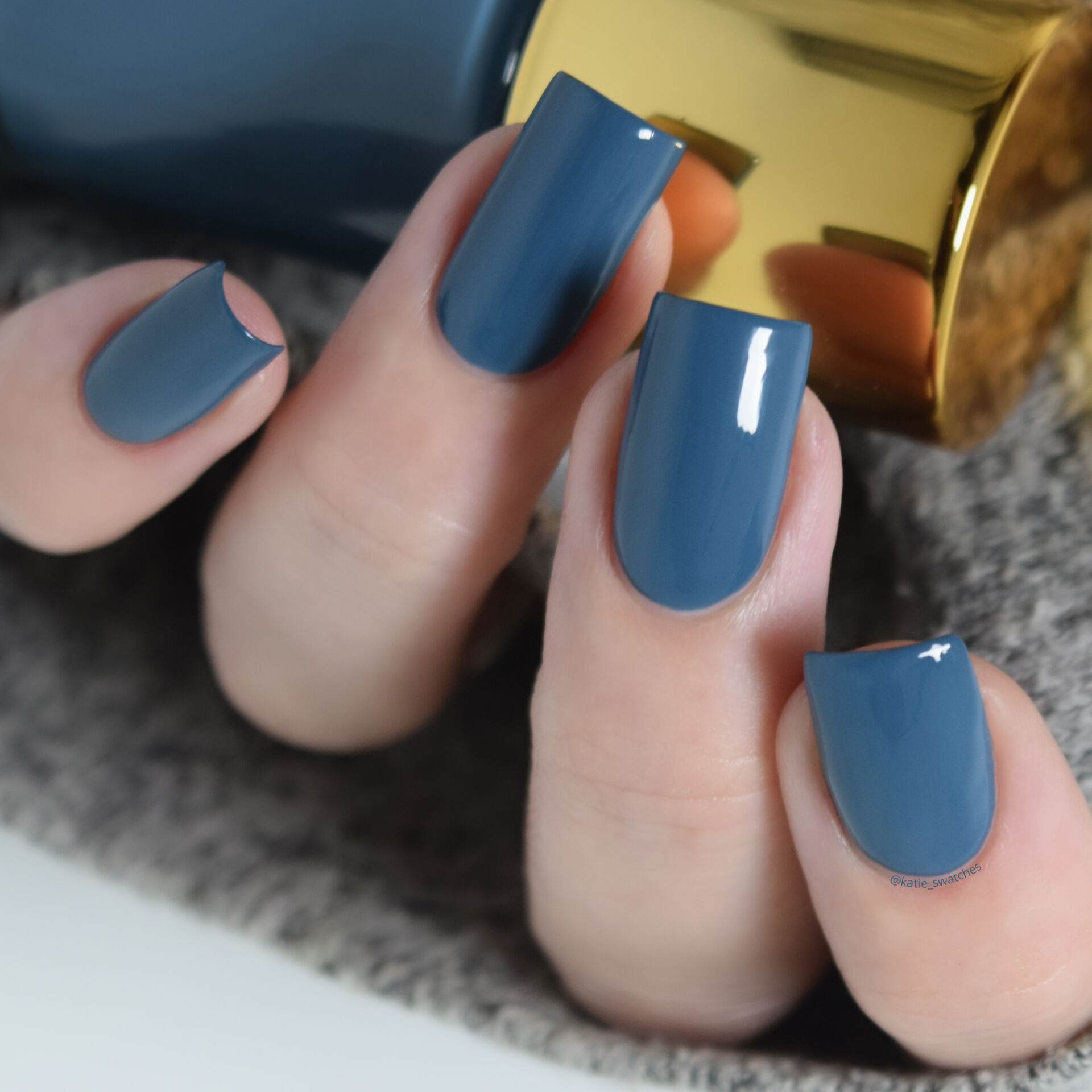 Tripe O Polish - Oyo denim blue creme nail polish swatch