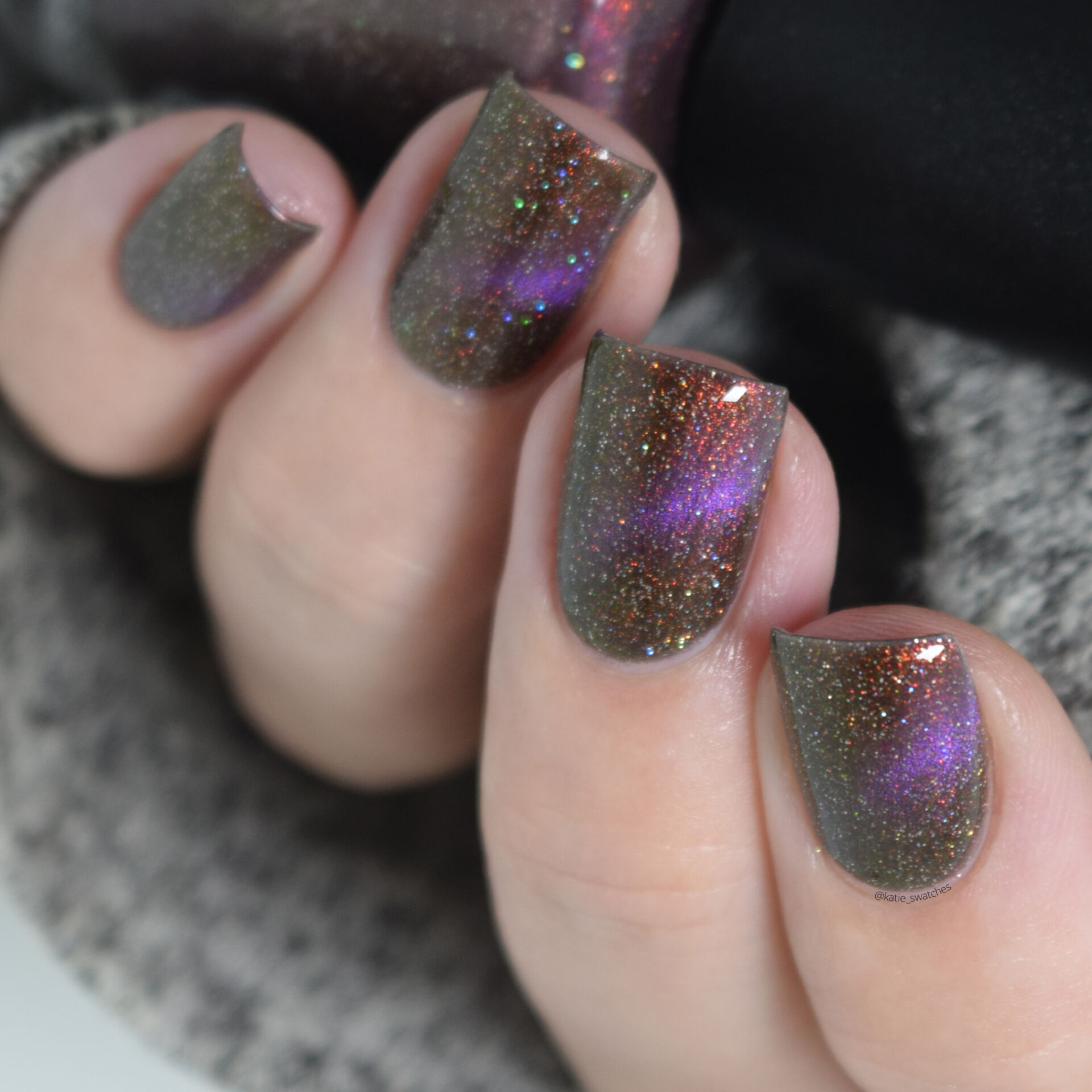 Treo Lacquer - Quantum Entanglement magnetic nail polish swatch - Polish Pickup July 2021 PPU Rewind